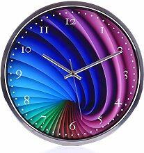TENGER Kinderwanduhr (Ø) 30cm Kinder Wanduhr mit lautlosem Uhrenwerk und farbenfrohem Design