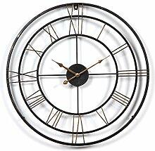 TENGER Wanduhr xxl 60cm Metall Lautlos Uhr Wall