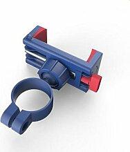 TENGGO 360 Rotation Fahrrad Handyhalter Mit 304 Edelstahl Universal Cradle Hält Alle Bis Zu 6.5 inch Smartphones-Blau