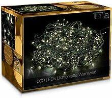 Tenia 600 LED Lichterkette Warmweiß Innen/Außen 50M Weihnachten Gartenbeleuchtung