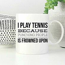 Tennis-Geschenke, lustige Tennis-Tasse,