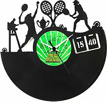 Tennis Geschenkidee Vinyl Schallplatten- Uhr,