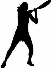 """Tennis Wand Aufkleber Aufkleber, 4–Aufkleber Aufkleber und Wandbild für Kinder Jungen Mädchen- und Schlafzimmer. Tennis Sport Art Wand für Home Decor und Dekoration–Tennis Silhouette Wandbild, Vinyl, schwarz, 54 in. (40.6""""W x 54""""H)"""