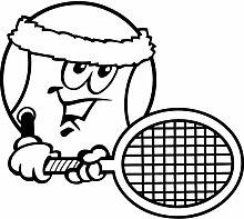 Tennisball Aufkleber 007, 50 cm, schwarz
