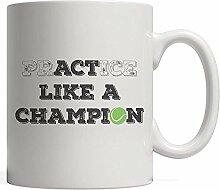 Tennispraxis oder Benimm dich wie ein Champion!