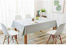 Tenrany Home Modern Tischdecke Baumwolle Leinen,