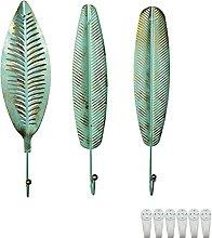 TentHome 3er-Set Wandhaken Dekorative Blätter