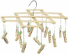 TentHome Mini Wäschespinne Holz Wäschetrockner