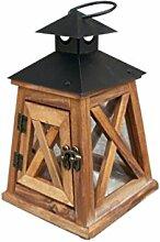 TentHome Vintage Holz-Laterne Landhaus kandelaber