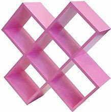 Tenzo 1814-032 Box Designer Regal, Holz, rosa, 35 x 104 x 104 cm