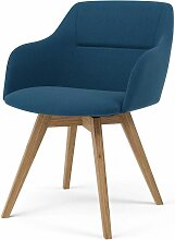 TENZO, 2x Stuhl Bess mit Sofia, Blau, Eiche,