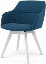TENZO, 2x Stuhl Bess mit Sofia, Blau, Weiß,