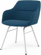 TENZO, 2x Stuhl Brad mit Sofia, Blau, Weiß,