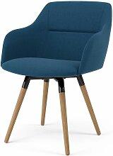 TENZO, 2x Stuhl Fido mit Sofia, Blau,