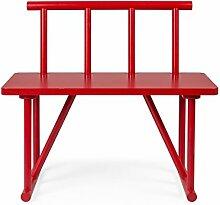 Tenzo 4030-928 Grain Designer Sitzbank Holz, rot gebeizt, 42 x 84 x 77 cm