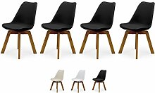 Tenzo Cleo Designer Stuhl, Kunststoffsitzschale,