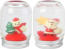 TEPET Set aus 2 Glas-Weihnachtskugeln mit