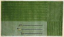 TEPGO Nepalteppich Dolpa 153 reseda 90 x 160 cm grün
