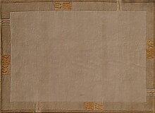 TEPGO Rama 322 Nepalteppich beige 60 x 120 cm beige
