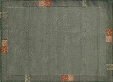TEPGO Rama 322 Nepalteppich grün 120 x 180 cm grün