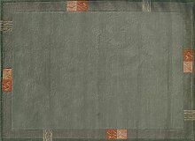 TEPGO Rama 322 Nepalteppich grün 60 x 90 cm grün