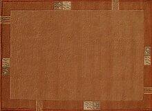 TEPGO Rama 322 Nepalteppich terra 200 x 200 cm terrakotta/orange