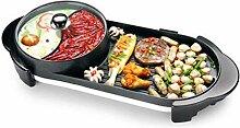 Teppanyaki-Grill, Barbecue-Topf Double Pot