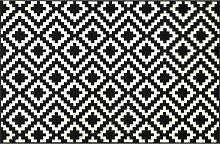 TEPPICH 115/175 cm Schwarz, Weiß