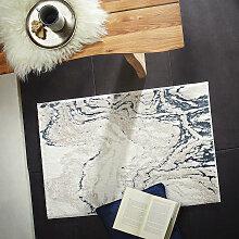 TEPPICH 150/200 cm Blau, Weiß