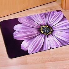 Teppich 3D Rosen Persönlichkeitsdruck Flanell Rechteck Fußauflage Türmatten Schlafzimmer Wohnzimmer Dekoration 40 * 60CM / Packung von 2 , 9