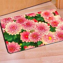 Teppich 3D Rosen Persönlichkeitsdruck Flanell