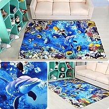 Teppich 3D Teppich Cartoon Wohnzimmer Schlafzimmer Teppichboden Quadrat (80 * 80cm) ( Farbe : C , größe : 120*120cm )
