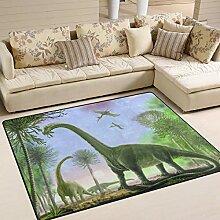 Teppich 63x48 Zoll Antique Forest Dinosaur für