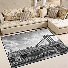 Teppich 63x48 Zoll Manhattan Wolkenkratzer mit