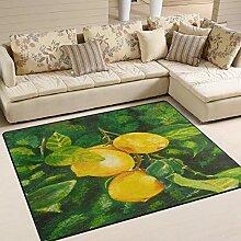 Teppich 63x48 Zoll Ölgemälde Lemon Tree für