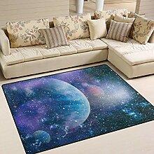 Teppich 63x48 Zoll Weltraum Planet Star Universe