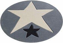 Teppich, 707, Rock STAR Baby, rund, Höhe 10 mm,