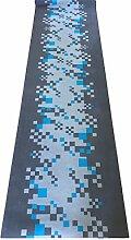 Teppich A Meterware (H 67cm) Tiffany taupe grau Küche Flur rutschfeste Waschbar in Waschmaschine ohne Paspelierung