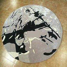 Teppich/ abstrakte Tinte Teppich/Runde Verdickung/Villa Teppich-A 160x160cm(63x63inch)