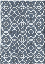 Teppich Adella in Blau Canora Grey