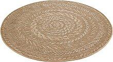 Teppich, Almendro, bougari, rund, Höhe 6 mm,
