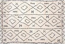 Teppich Altweiß mit Mustern Polypropylen 160x230