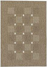 Teppich Andria - 6511-163-084 - taupe - 80 x 200 cm - Vorleger, Läufer, Gallerie, Teppich - Design: Streifen - Vielseitig und Individuell – Nicht nur im Wohnzimmer, sondern auch in der Küche und im Flur macht dieser Teppich eine gute Figur und ist dabei besonders pflegeleicht. Mit seinen vier verschiedenen Designs in drei Farbstellungen, ist er nicht nur flexibel anwendbar, sondern verleiht dazu jedem Raum einen natürlichen und zeitlosen Look.