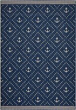 Teppich Anker, blau (60/110 cm)