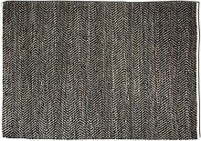 Teppich Anthrazit Hanf 160x230 cm RAFT