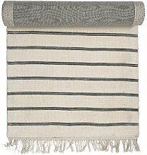 Teppich aus Baumwolle in Beige/Grau
