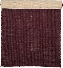 Teppich aus Baumwolle in Kastanienbraun
