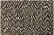 Teppich aus Baumwolle und Jute in Schwarz und