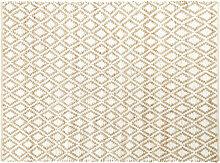 Teppich aus Baumwolle und Jute mit Rhombenmotiv