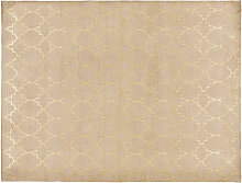 Teppich aus beige Baumwolle mit Motiven 140x200